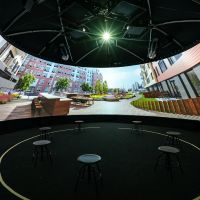 ESCO provide cylinders, domes and cubes of immersive spaces